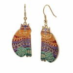 Rainbow Cat Earrings - $48